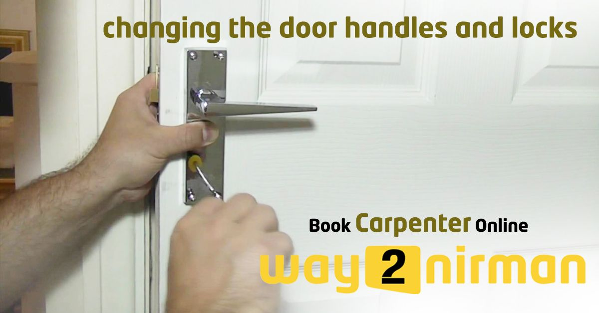 Changing the door handles and locks carpentry services
