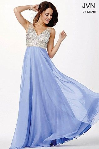 7c0581f2c18 Periwinkle Chiffon Long Bridesmaid Dress JVN20437 in 2019