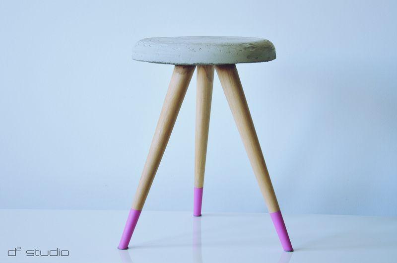 SOFTCONE - Betonowy stolik PINK w D2 Studio - Drewno dla Twojego domu na DaWanda.com   design / projekt / stołek / stolik / skandinavian / scandi / skandynawski / d2 studio / wood / drewniany / coffee table / handmade /