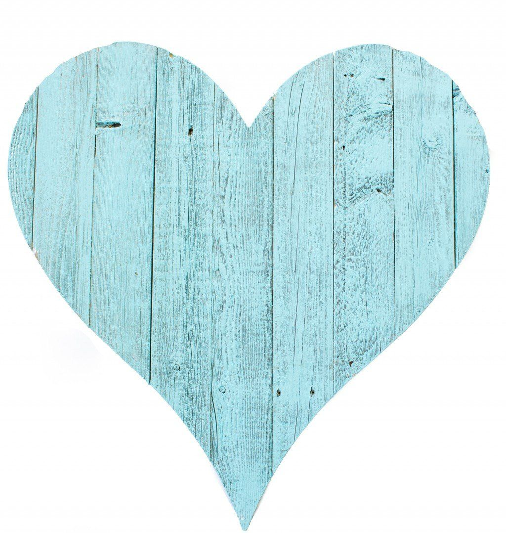 Photo of 24″ Rustic Farmhouse Turquoise Large Wooden Heart