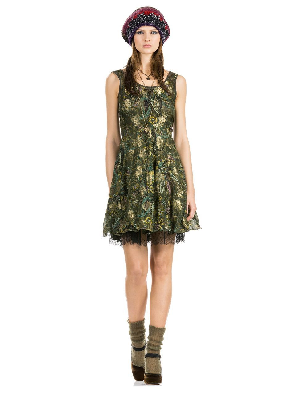 etro flared dress with lace details 162d1839053520500 12
