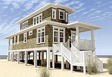 Elevated Raised Piling and Stilt House Plans Coastal Home Plans