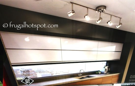 Artika reflexion 5 light led track fixture costco frugalhotspot update with 5 adjustable heads that are dimmable this clean and modern chrome plated track lighting works great in a sleek kitchen or bathroom mozeypictures Images