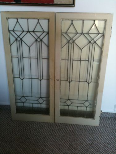 Antique Leaded Glass Cabinet Doors Beautiful Leaded And