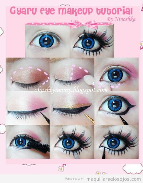Gyaru Eyes Makeup Part 2 Doll Eye Makeup Anime Makeup