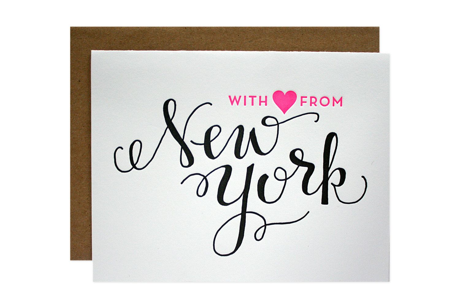 With ❤️ from New York card // Parrot Design Studio on Etsy