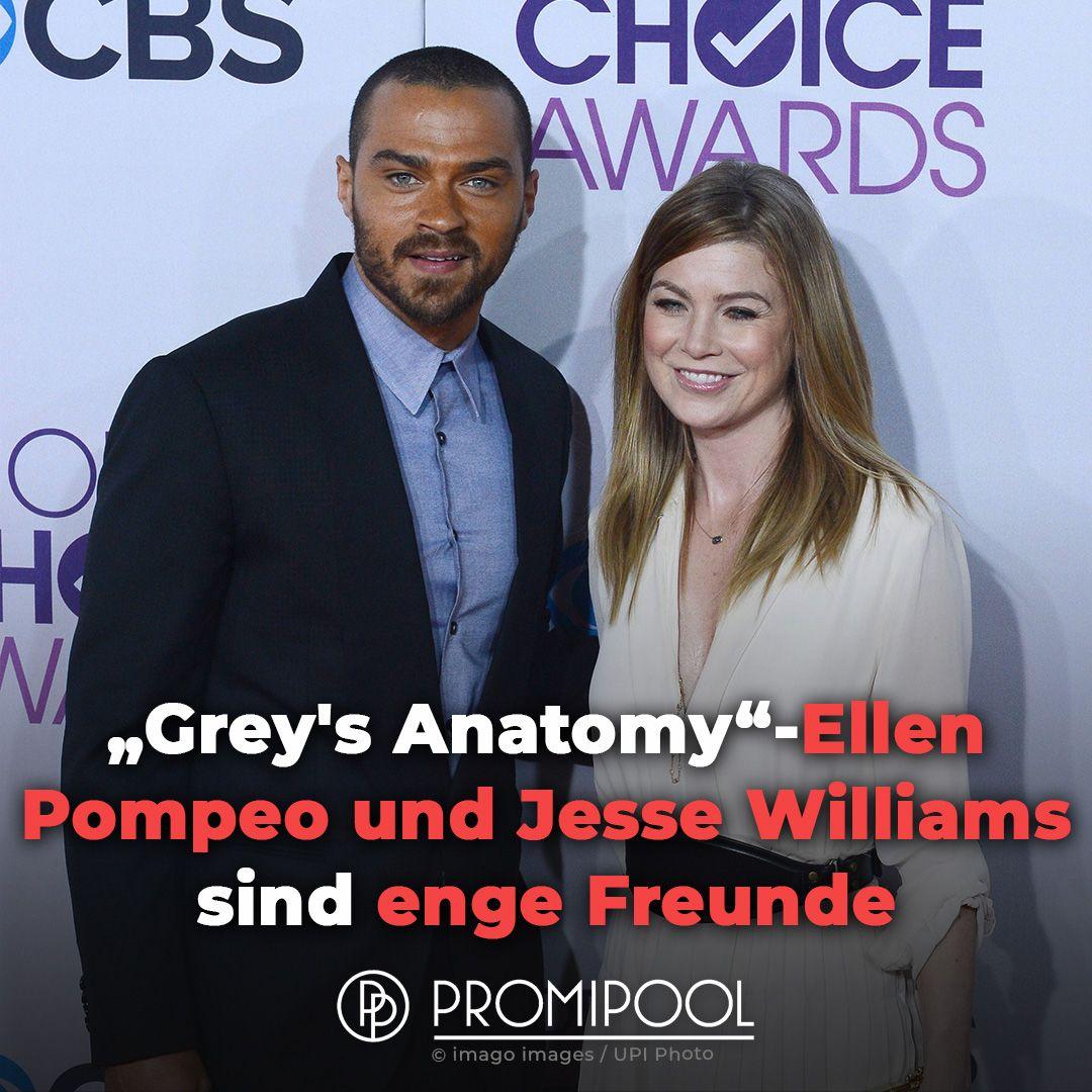 Gewusst Grey S Anatomy Ellen Pompeo Und Jesse Williams Sind Enge Freunde Jesse Williams Ellen Pompeo Greys Anatomy