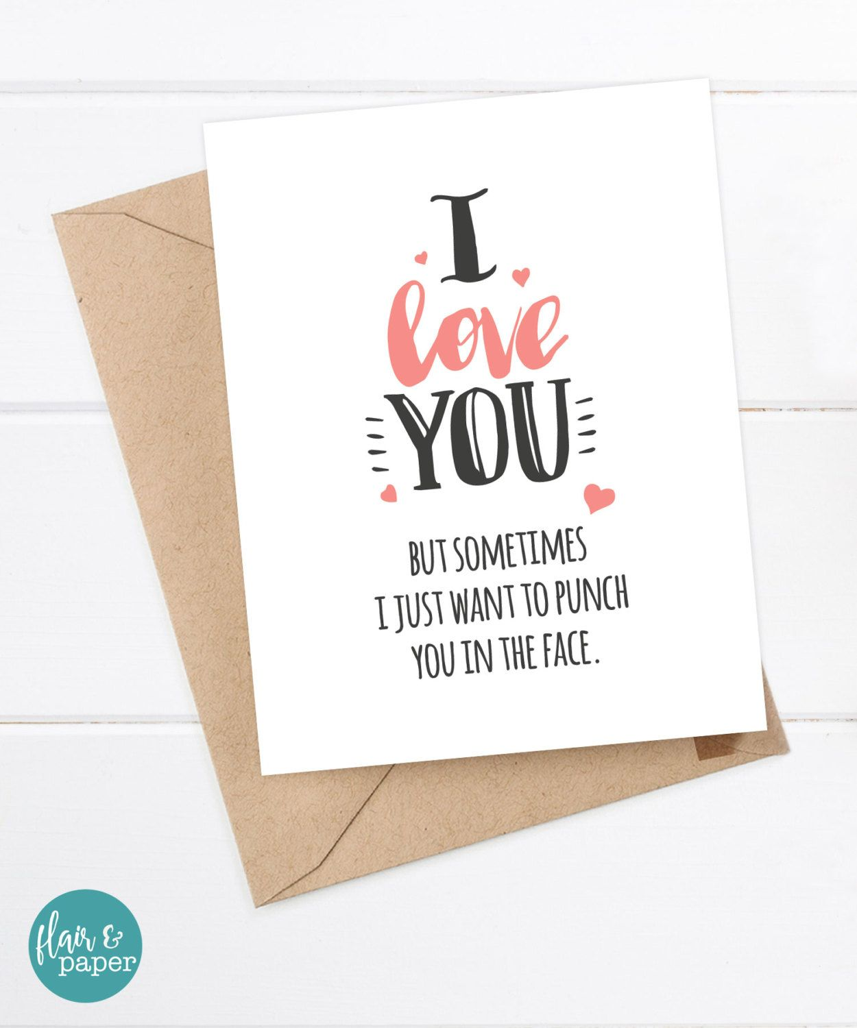Funny Boyfriend Card Girlfriend Card Quirky Snarky Birthday Card