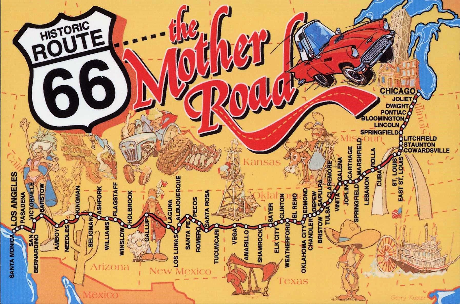 Road Trip Pa Route 66 Med Car Wizard Som Guide Pa The Mother Road