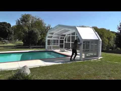 Stylish And Luxurious Types Of Pool Enclosures Topsdecor Com Pool Enclosures Inground Pool Landscaping Endless Pool