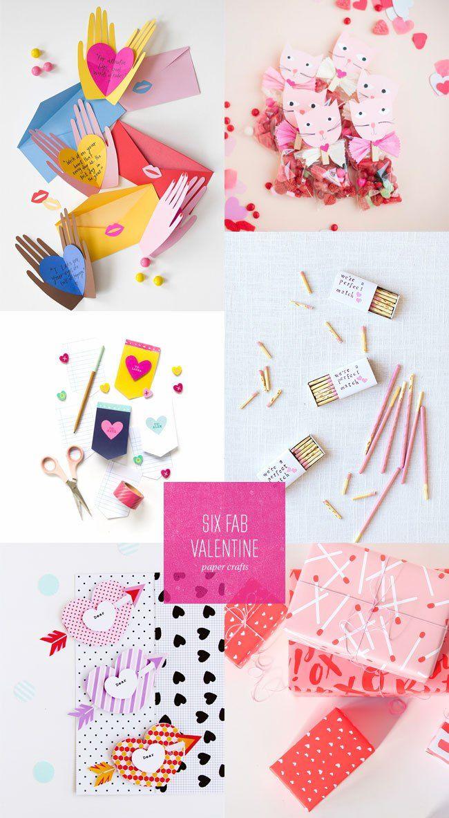 6 Fab Valentine's Day Paper Crafts