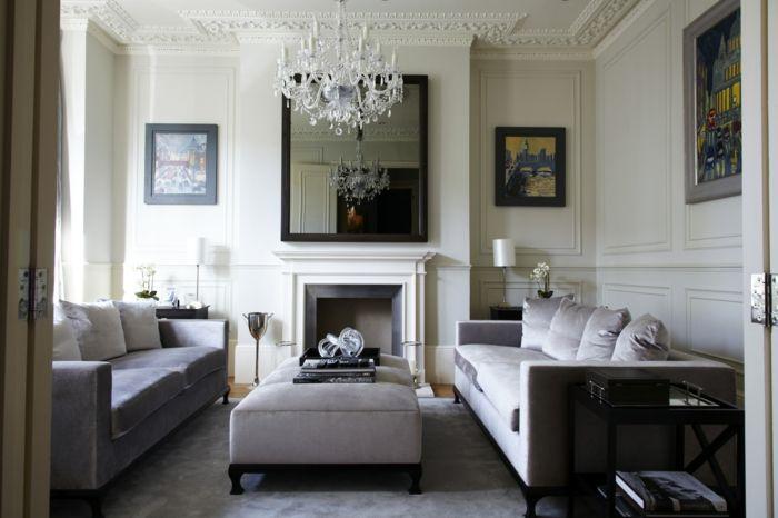 44 Wandgestaltung Ideen, wie Sie den Raum beleben - wohnzimmer ideen kamin