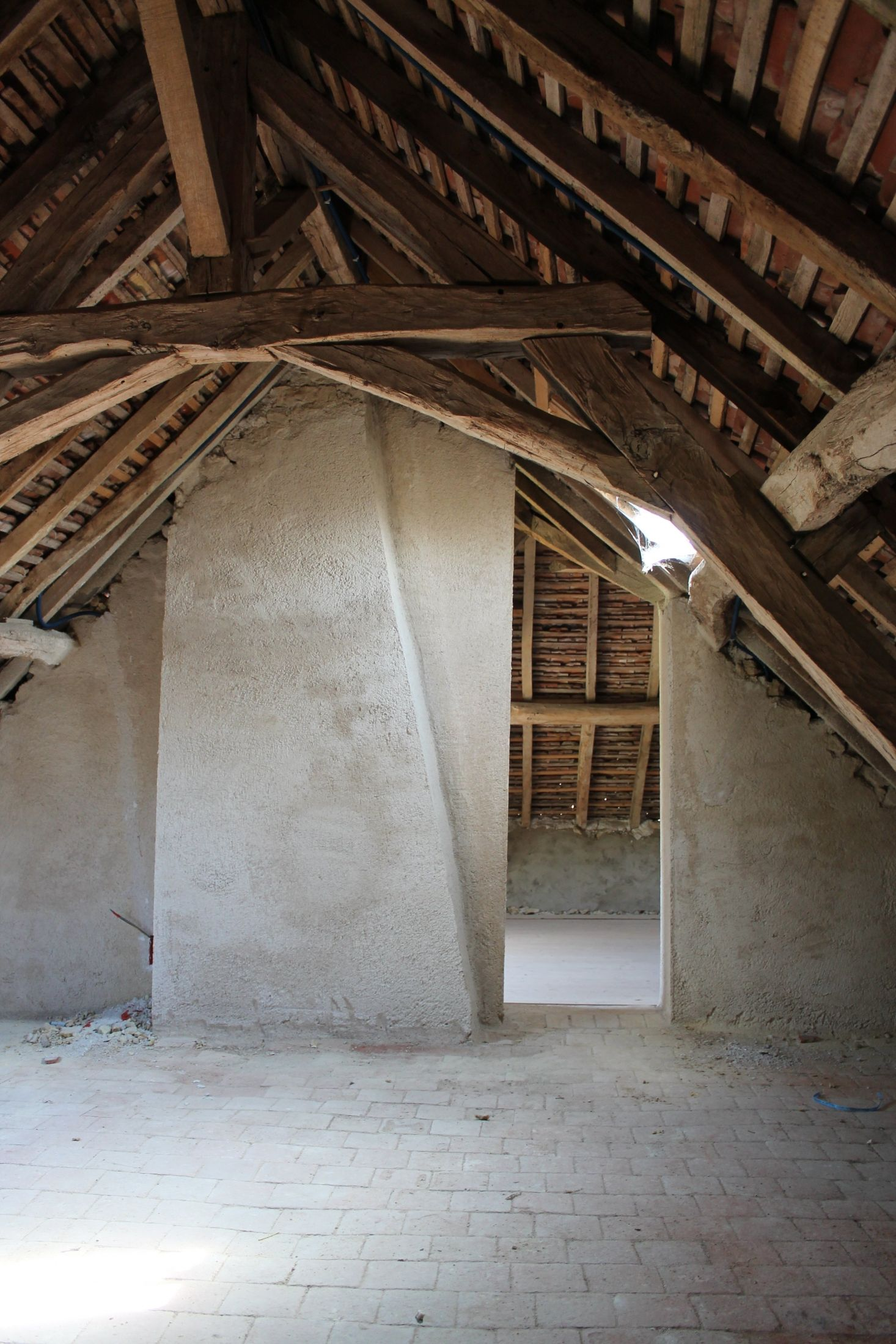 The Original Exposed Beams And Stone Floor