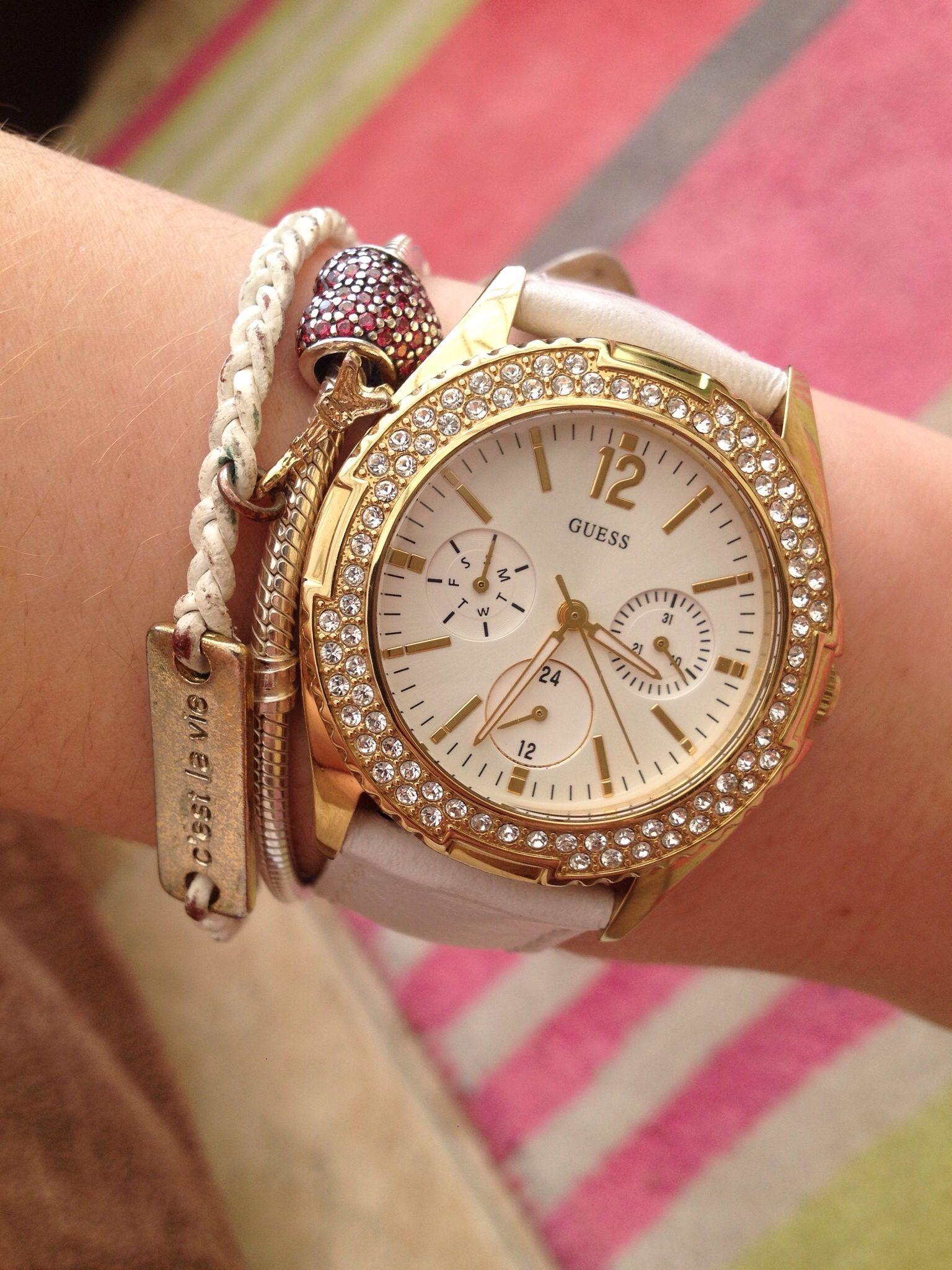 339ca282 Guess watch + Pandora bracelet. Găsește acest Pin și încă altele în ceasuri  de mana ...