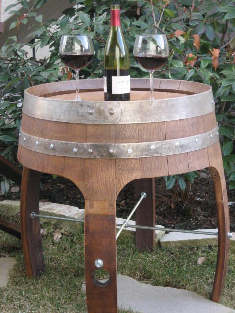 Vintage Handmade Eco Friendly Wine Barrel Side Table For Inside Or Outside 279 00