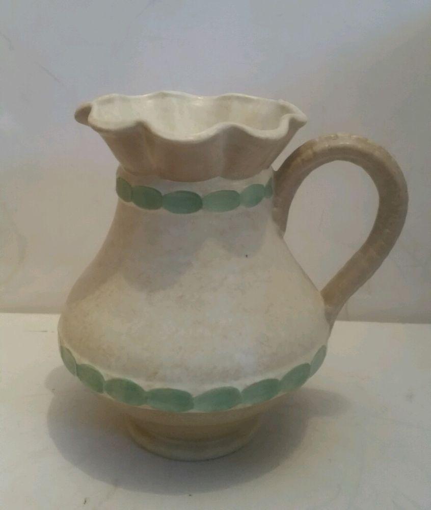 Antique Large British Decorative Jug Vase By Burleigh Ware Burslem