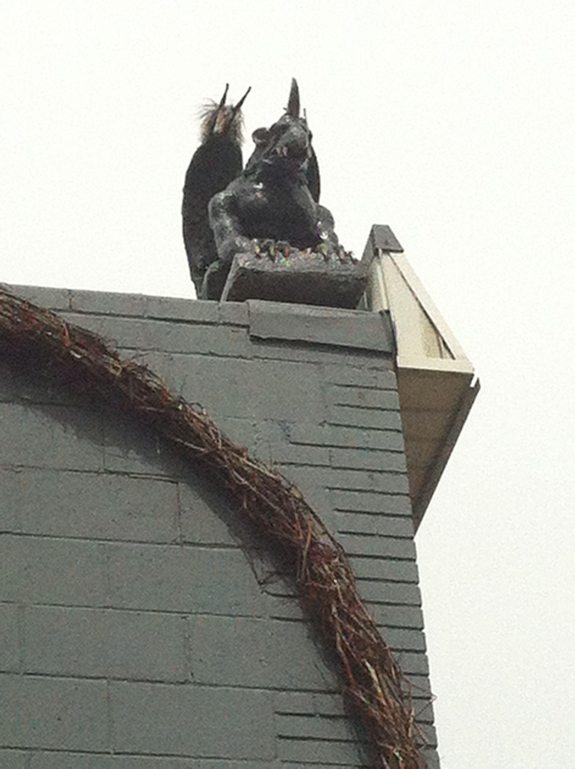 Gargoyle gargoyles lion sculpture statue