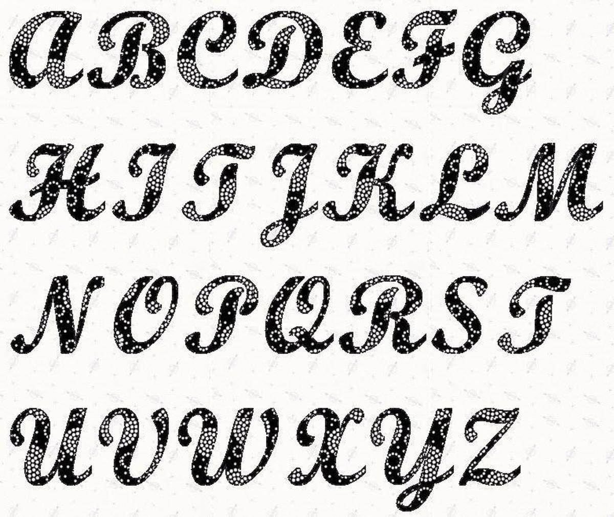 4 Inch Letter Stencil