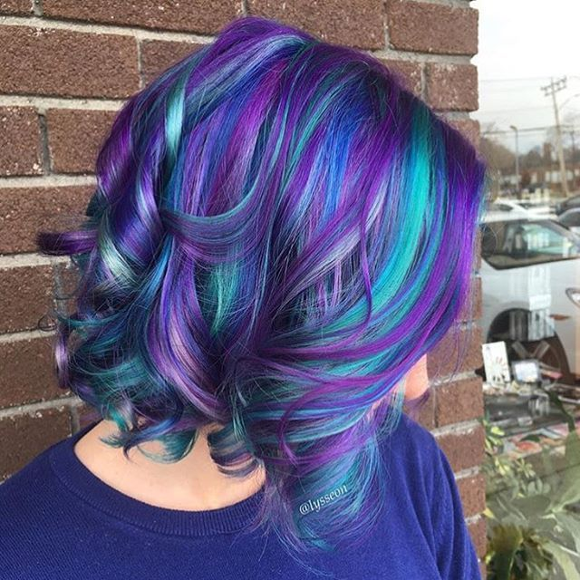blue hair styles purplehair hair bluehair curls on instagram hairstyles 1525 | 1525f58cb74d7d0026cf13ed50463397