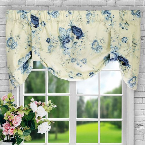 Found It At Joss Main Kayleigh Floral Print Rod Pocket Curtain Valance Tie Up Rose Curtains