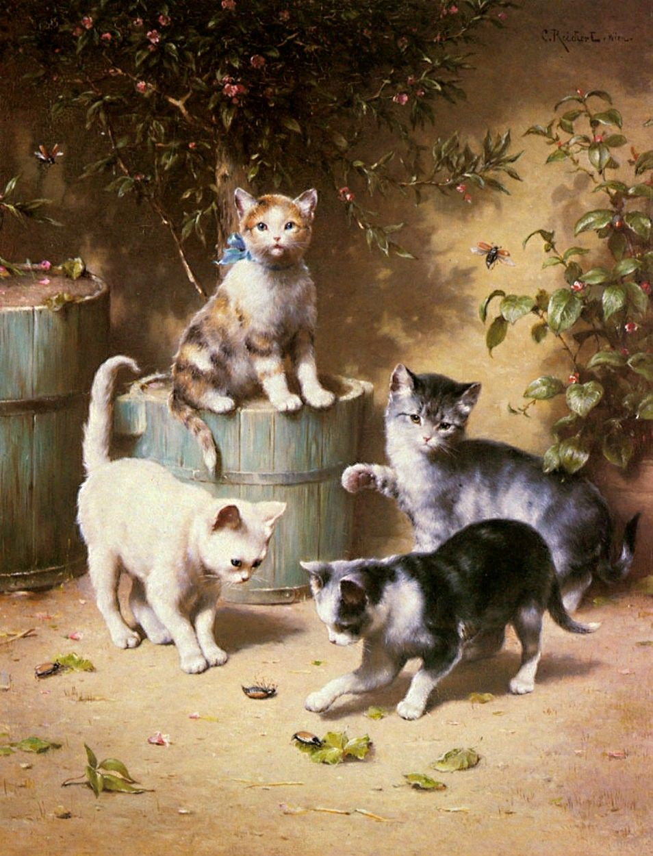 kittens in art