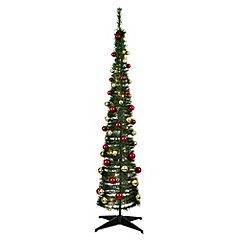 sainsbury 39 s 6ft green pop up tree with red gold baubles. Black Bedroom Furniture Sets. Home Design Ideas