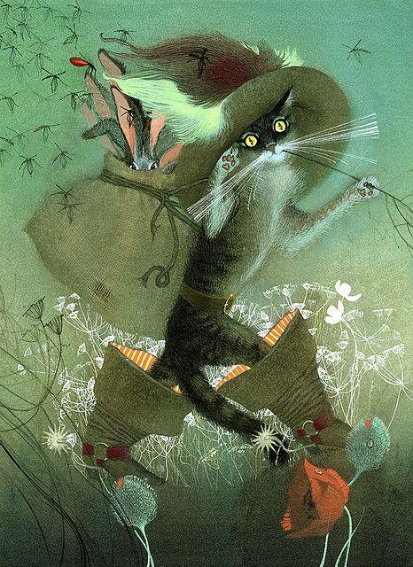 Perro Kot V Sapogah 046 Art Fairytale Art Illustration