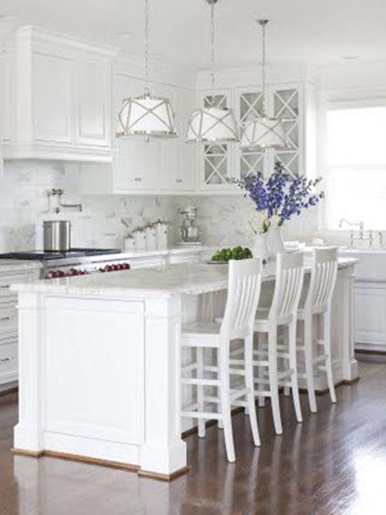 Hamptons Style Kitchen Makeover Gorgeous White Kitchen White