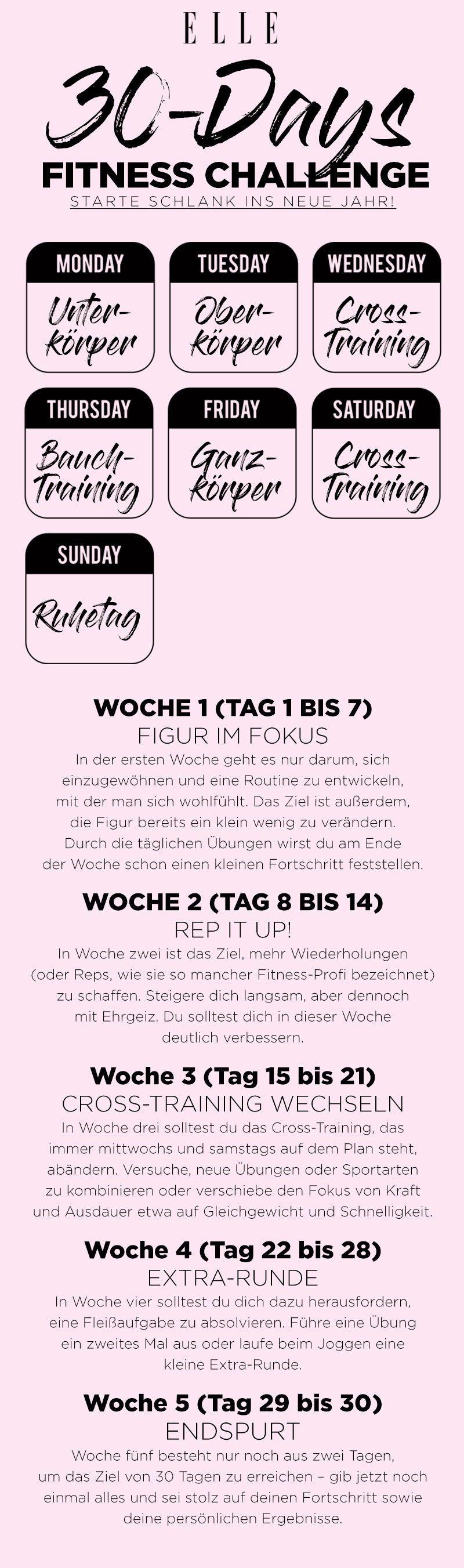 Fitness Challenge: In 30 Tagen schlank und fit | ELLE #fitnesschallenges