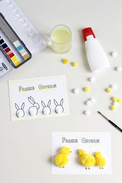 DIY: Osterkarten - we love handmade #loisirscréatifs
