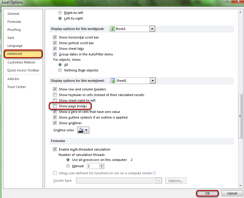 How to hide page break in MS Excel. Find out more www
