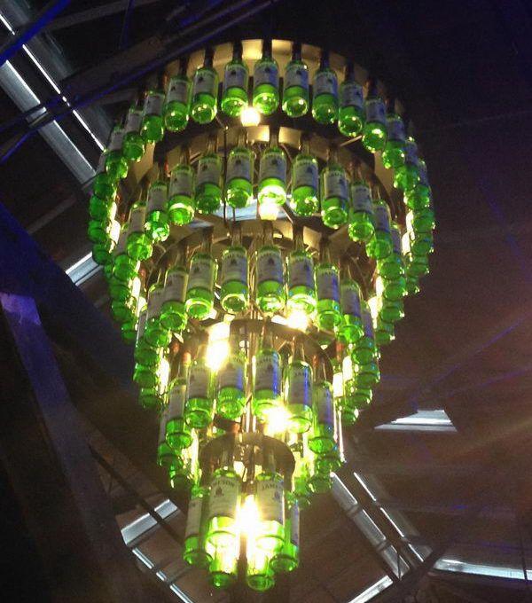25 creative wine bottle chandelier ideas homemade chandelier 25 creative wine bottle chandelier ideas aloadofball Choice Image