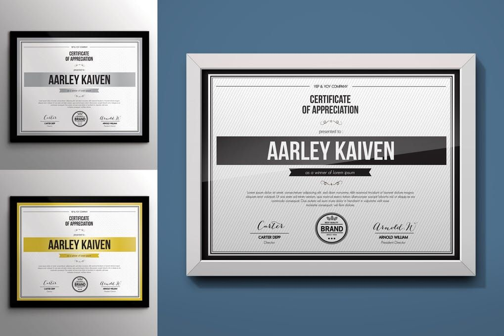 Simple Multipurpose Certificates By Aarleykaiven On Envato Elements Certificate Templates Certificate Of Participation Template Templates