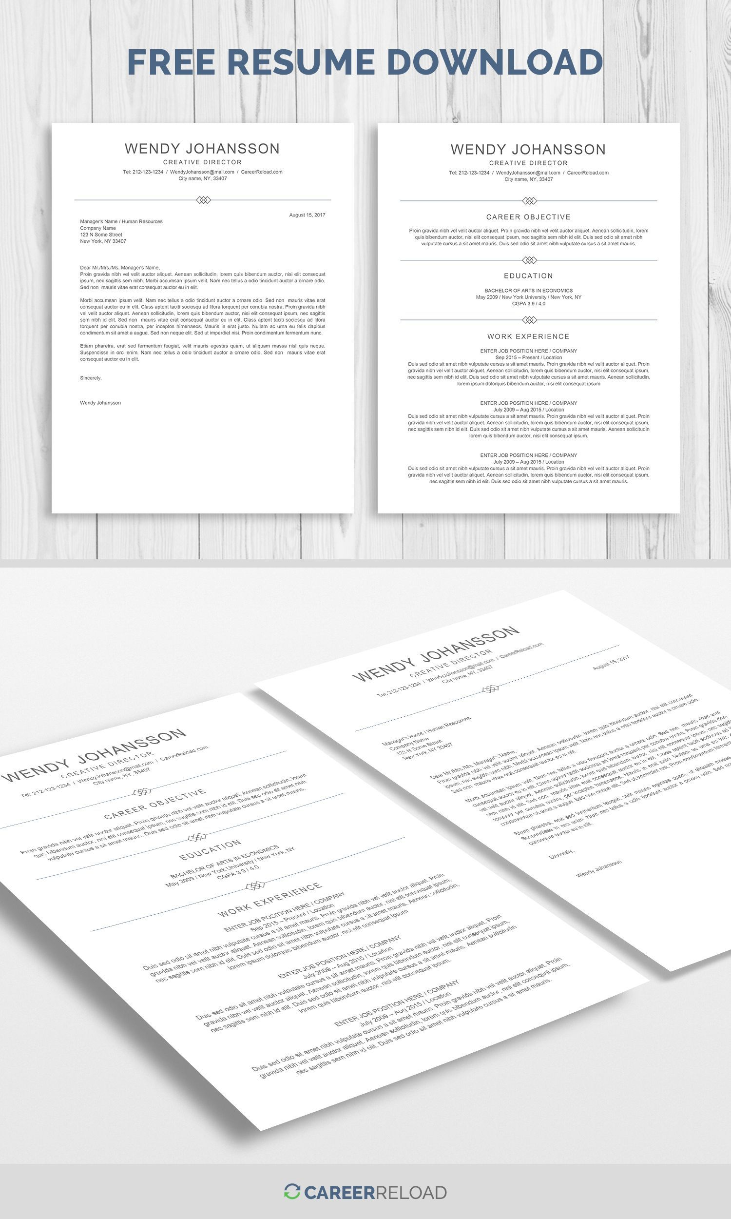 Resume Template For Microsoft Word Cover Letter Template For Word