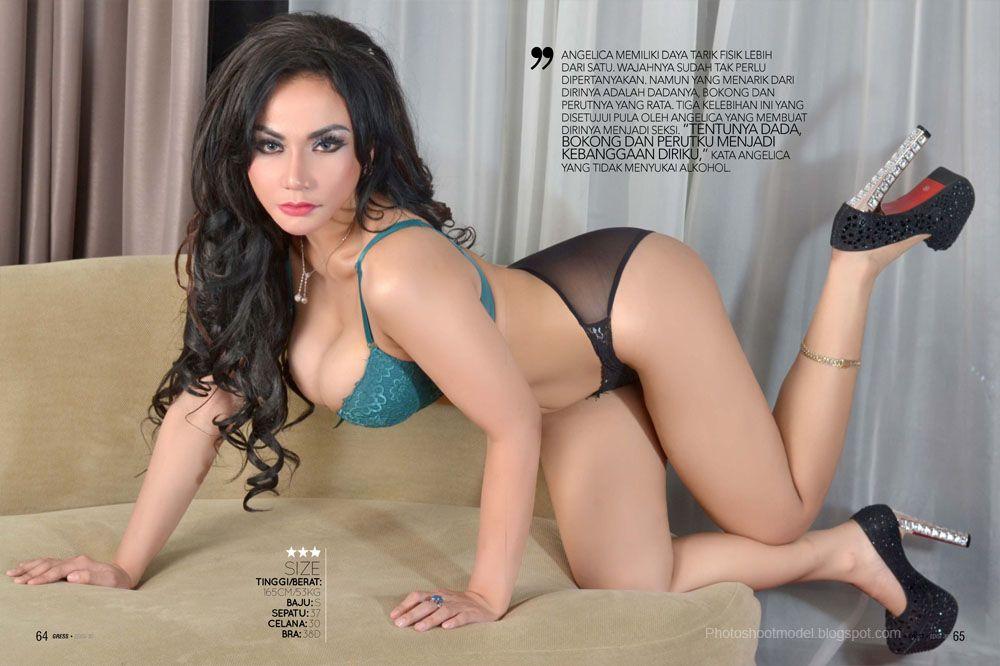 Model Seksi Majalah Dewasa Model Artis Hot Full Foto Hot Keindahan Body Aduhai Angelica