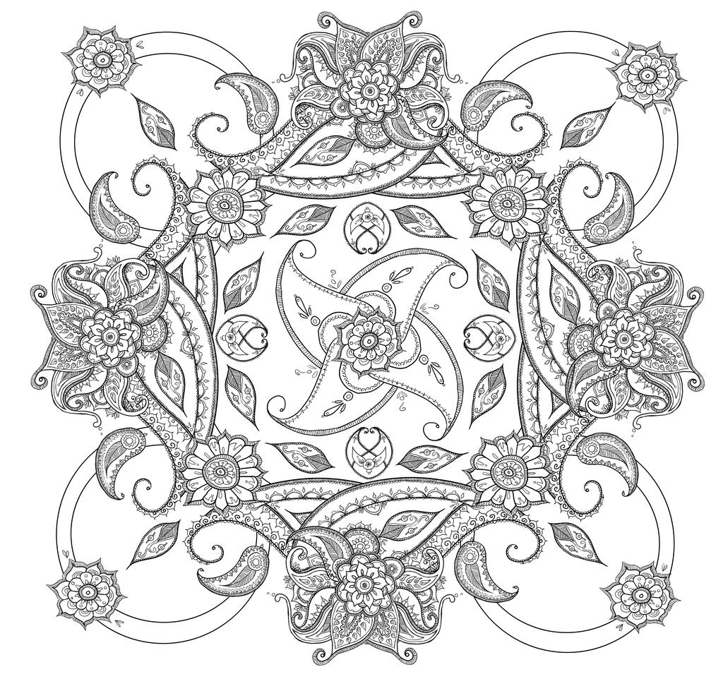 Mandala coloring pages pinterest - Paisley Coloring Pages Bing Images Square Mandala Coloring Pages