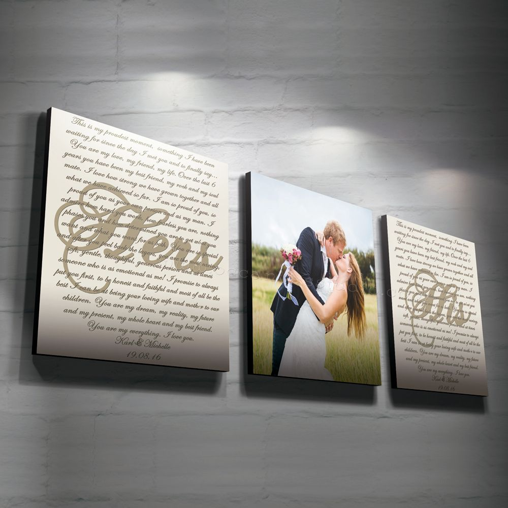 Custom Canvas Wall Art split custom canvas wedding anniversary canvas art print, split