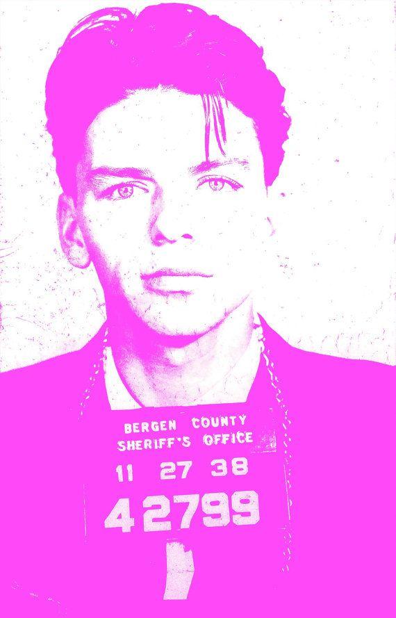 Frank Sinatra mugshot photo print mug shot poster