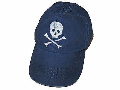 ed1383911 Rugby Ralph Lauren Polo Navy Blue White Skull Crossbones Baseball ...