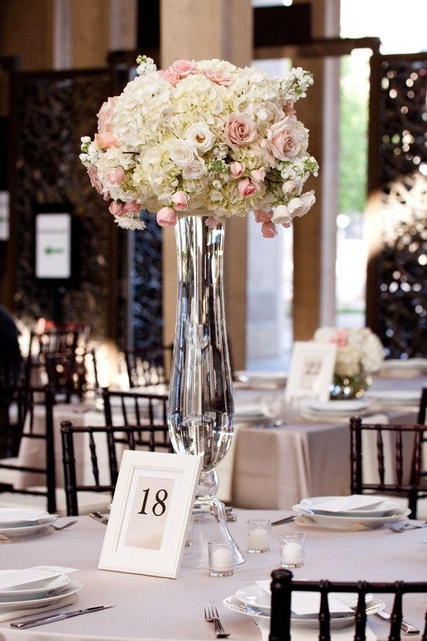 Clear Trumpet Floral Vase Wedding Centerpiece Wedding Pinterest