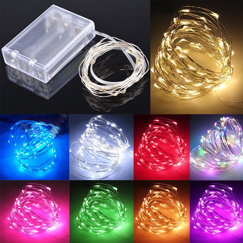 20/30/40/50/100 LED String Copper Wire Fairy Lights Battery Powered