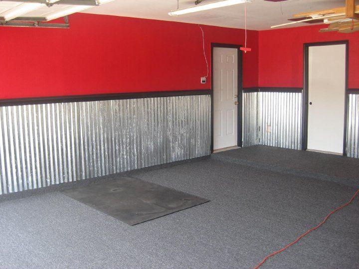 Carpeted The Man Cave Floor With Indoor Outdoor Carpet And