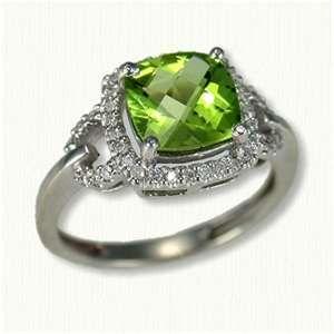 Peridot Wedding Rings