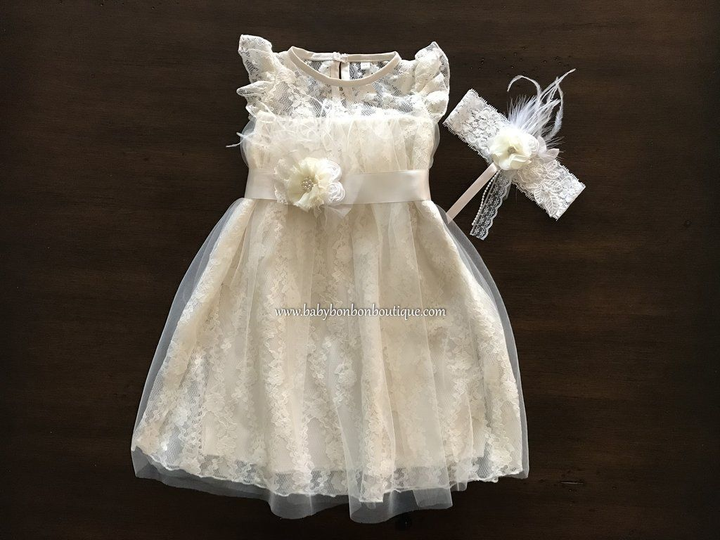 Choomomo Newborn Baby Girls 3D Rose Flower Baptism Dress Christening Gown Wedding Party Dresses