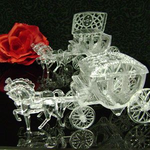 Cinderella Style Horse With Wedding Carriage Favor