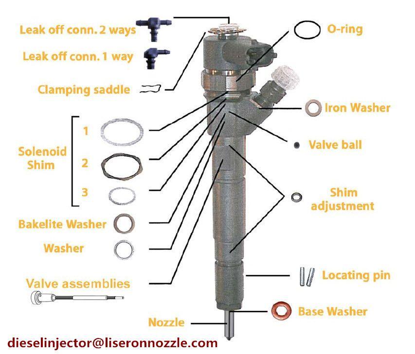 Bosch Series Injector Diesel Nozzle Control Valve Washer