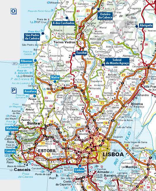 Carte Detaillee Du Portugal Carte Carte Portugal Carte Routiere Portugal