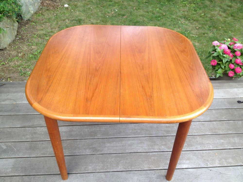 Self Storing Butterfly Leaf Danish Style Dining Table Teak Mid Century Modern Dining Table Table Danish Style