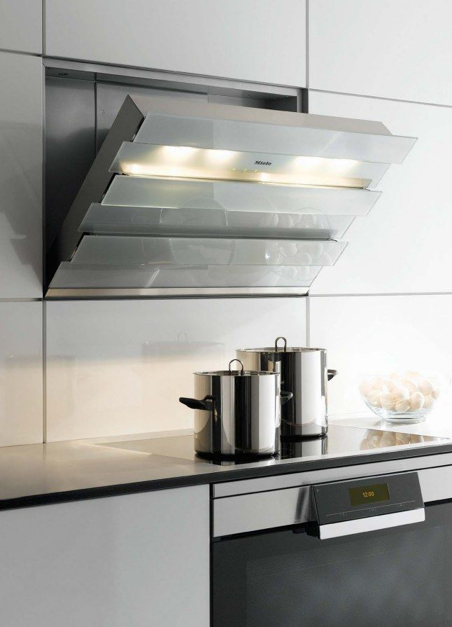 Miele: DA 6000 W Cabrio Wall Décor Rangehood | Discrete #rangehoods | @mecc Great Ideas