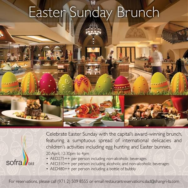 Are you a food lover? Enjoy #Easter with us and dip into a phenomenal journey of taste! #AbuDhabi